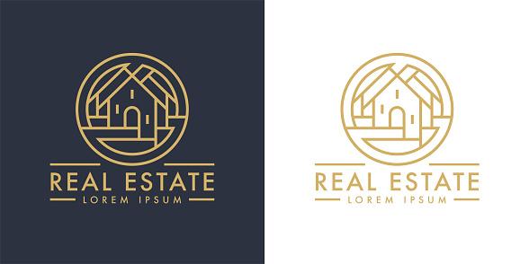 Real estate home line icon