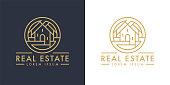 istock Real estate home line icon 1263876985