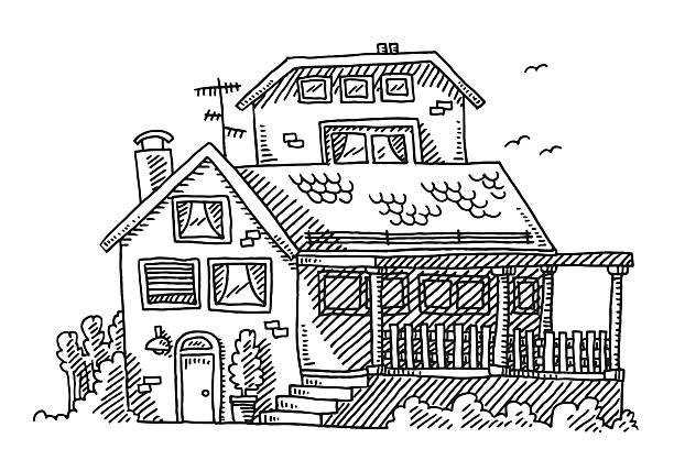Best Drawing Of Veranda Illustrations, Royalty-Free Vector ... on