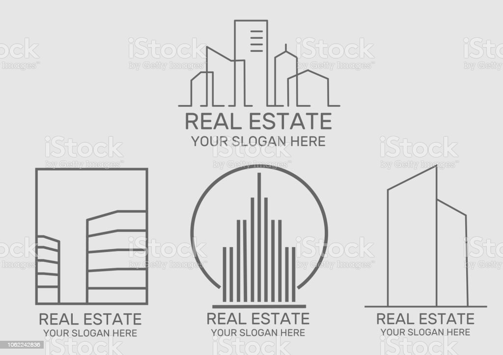 Real Estate house  icon vector art illustration