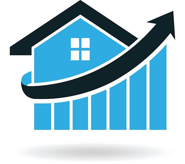 Real Estate House Logo Prices Illustration Real Estate House Prices Illustration stability stock illustrations