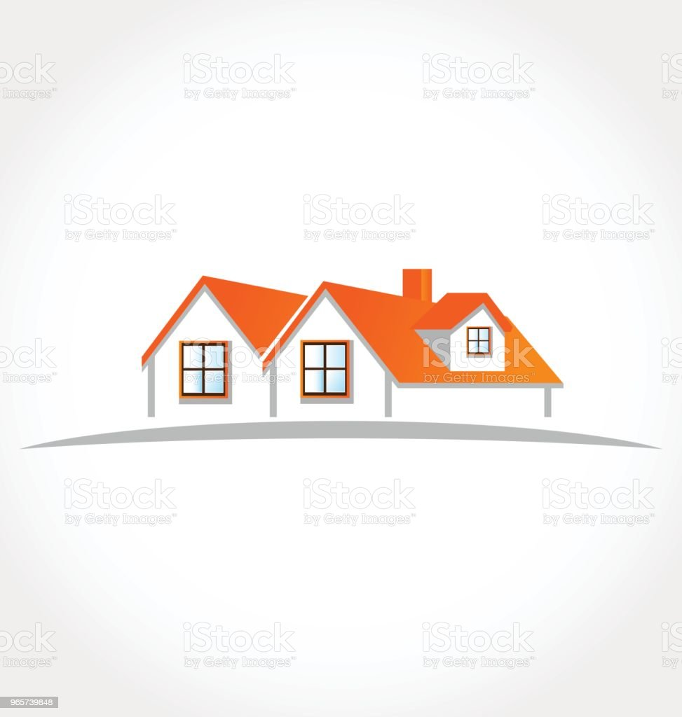 Real estate houses apartments id card identity business icon - Royalty-free Abstract stock vector