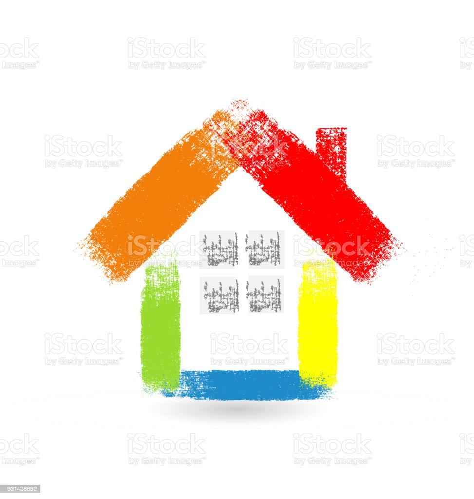 Real estate houses id card identity business icon vector art illustration