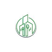 Real estate icon, home symbol design vector illustration