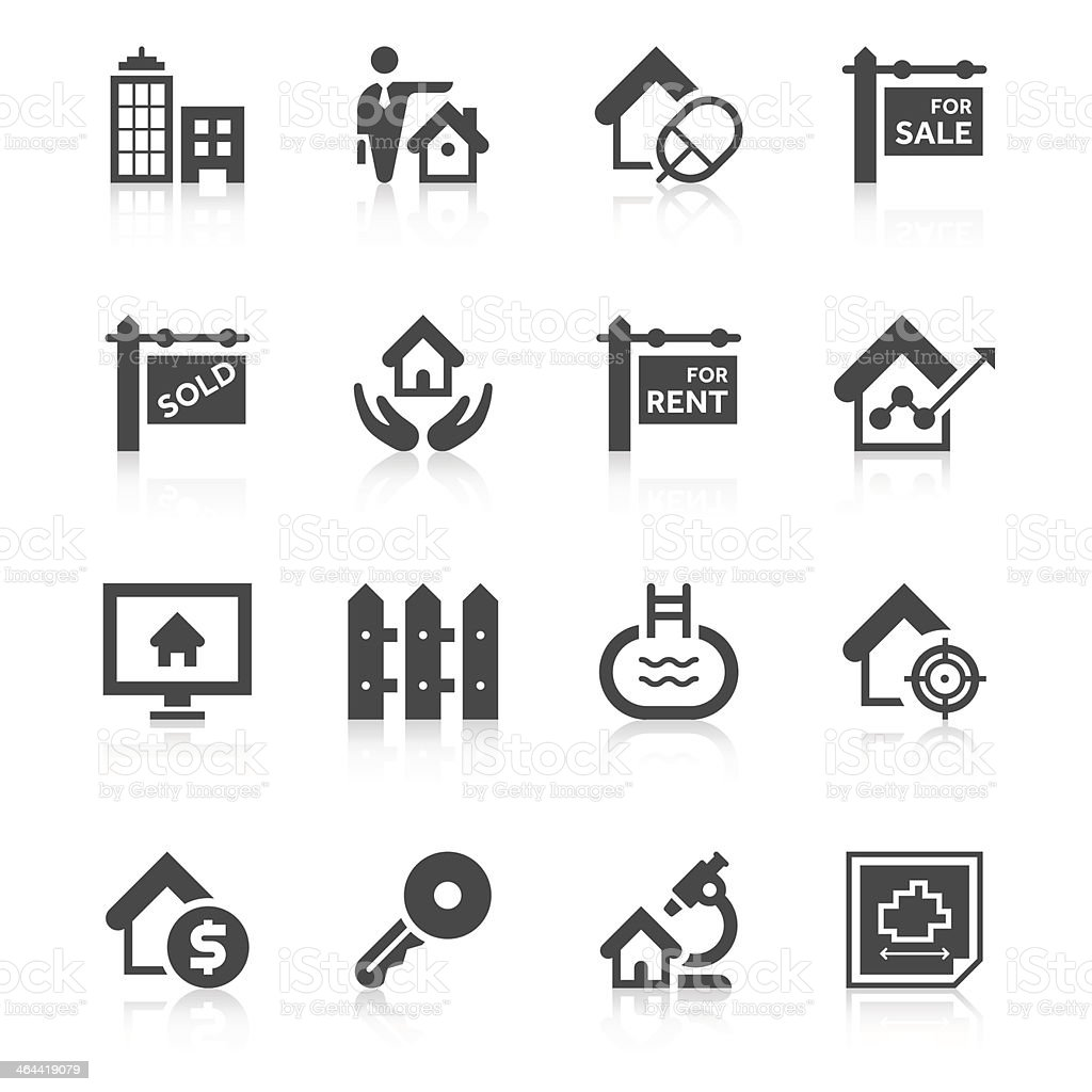 Real Estate Icon Set | Unique Series vector art illustration