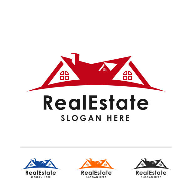 real estate icon symbol design template. home vector icon symbol illustration - real estate logos stock illustrations, clip art, cartoons, & icons