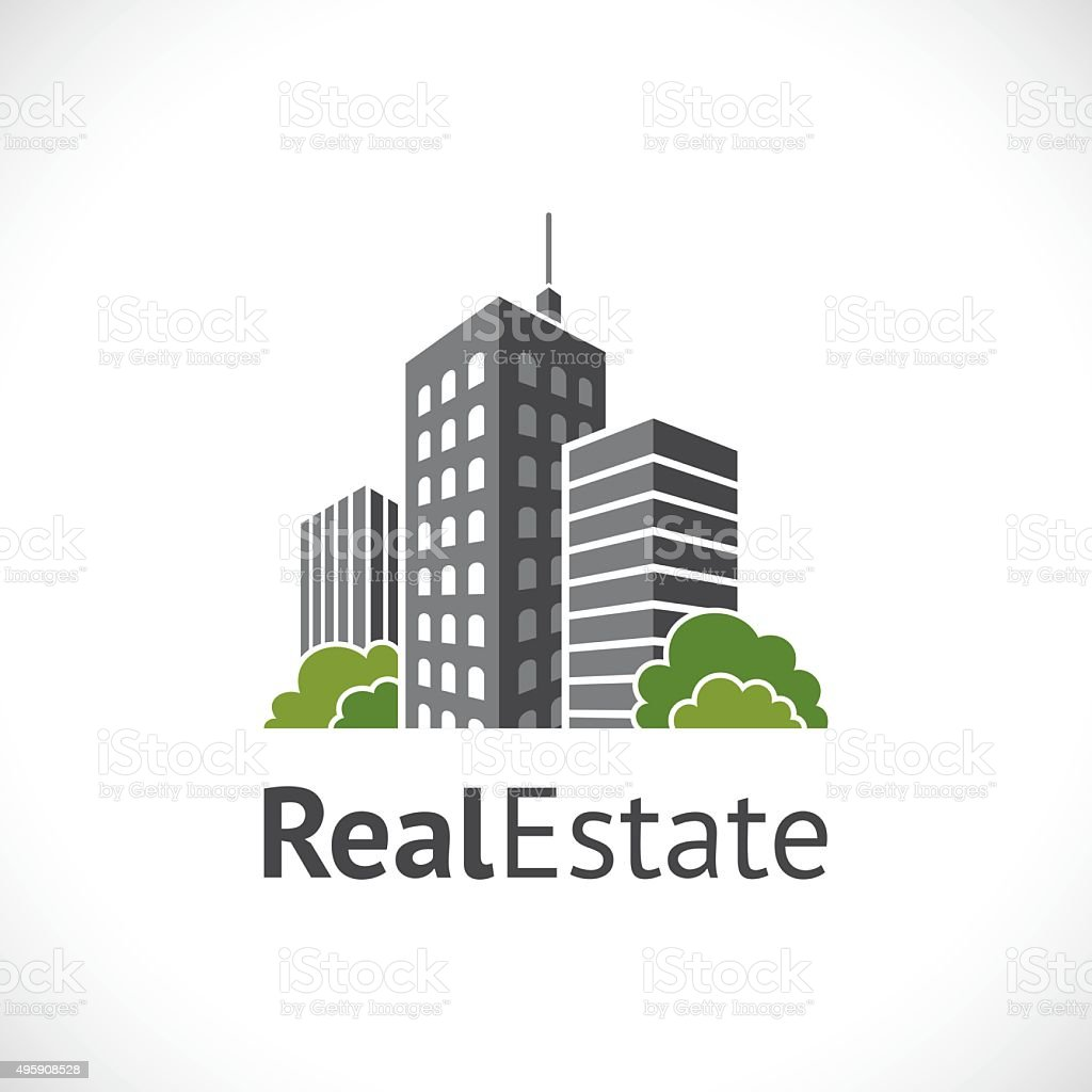 Real estate icon vector art illustration