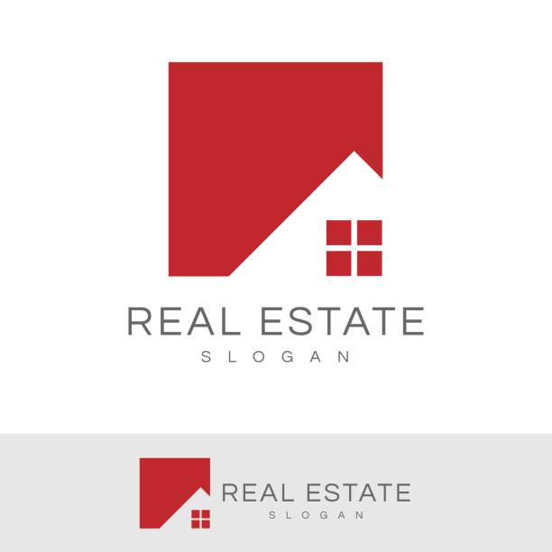 real estate icon - real estate logos stock illustrations, clip art, cartoons, & icons