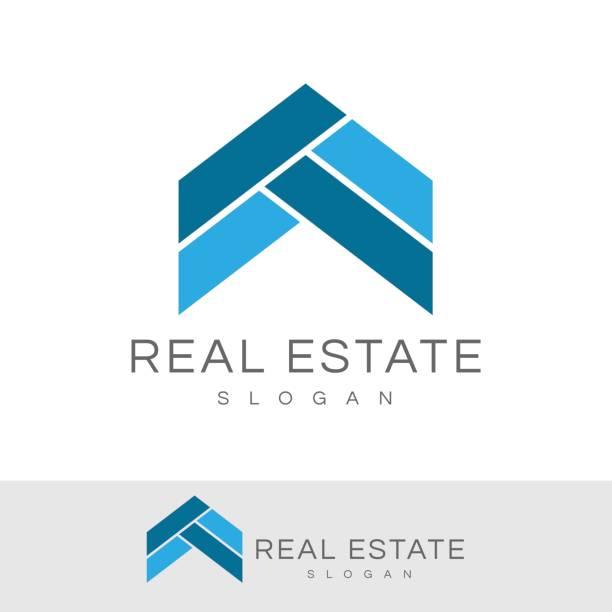 illustrations, cliparts, dessins animés et icônes de immobilier icône - logos immobilier