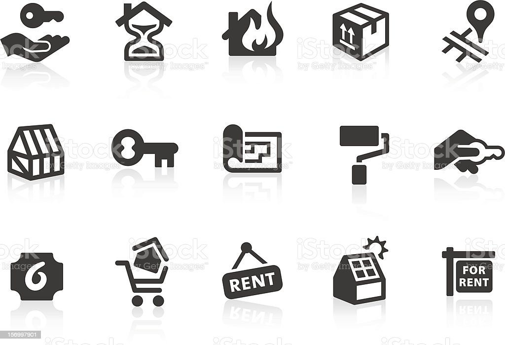 Real Estate icons 2 vector art illustration