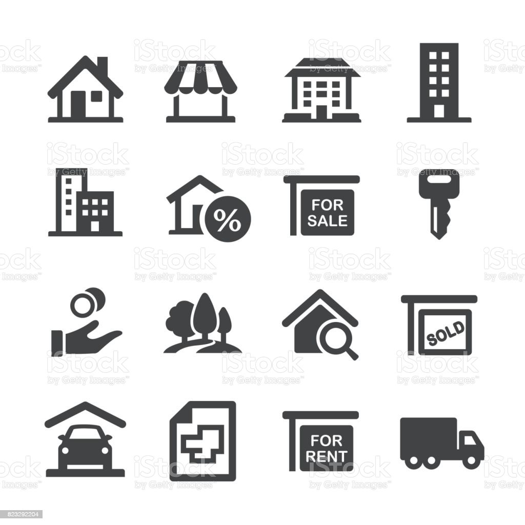 Real Estate Icons - Acme Series vector art illustration