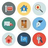 Real Estate Icons — Circle Series