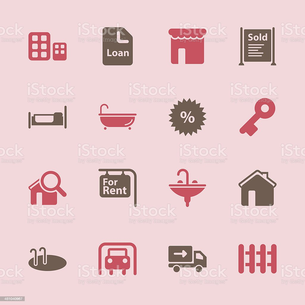 Real Estate Icons - Color Series   EPS10 royalty-free real estate icons color series eps10 stock vector art & more images of apartment