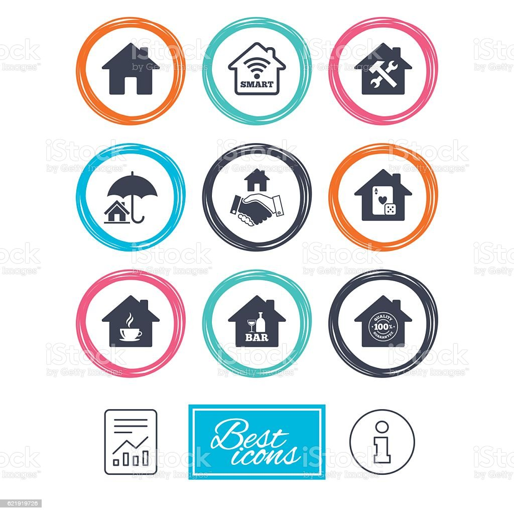 Real estate icons house insurance sign stock vector art more real estate icons house insurance sign royalty free real estate icons house insurance biocorpaavc Image collections