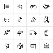 Real Estate Icons — Inky Series