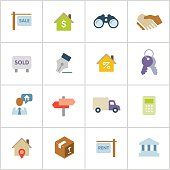 Real Estate Icons — Poly Series
