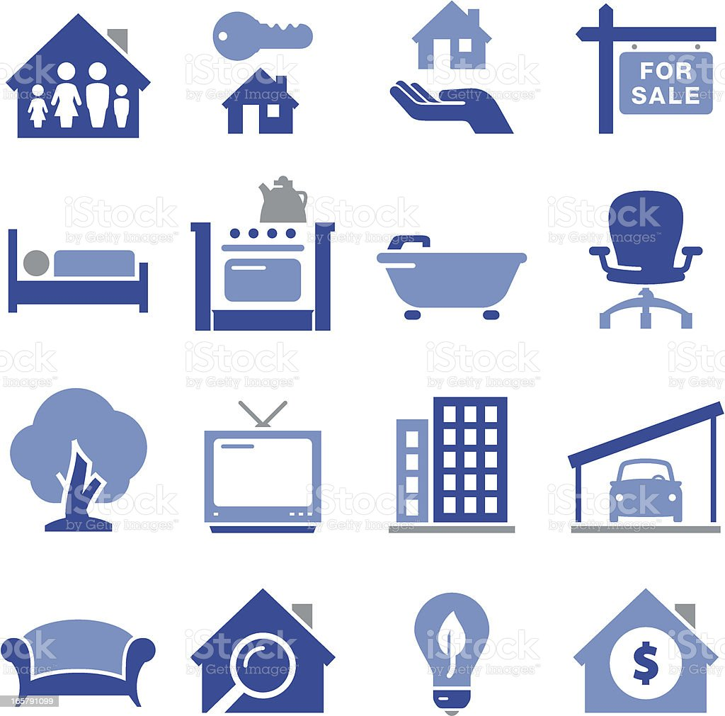 Real Estate Icons - Pro Series royalty-free real estate icons pro series stock vector art & more images of apartment