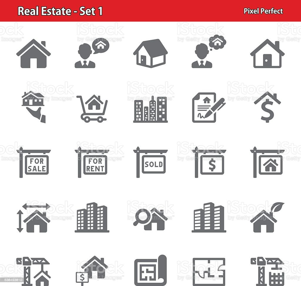 Real Estate Icons - Set 1 vector art illustration