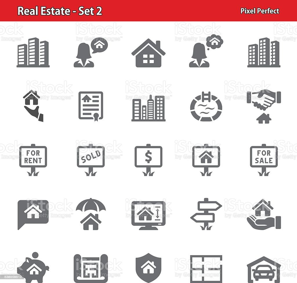 Real Estate Icons - Set 2 vector art illustration