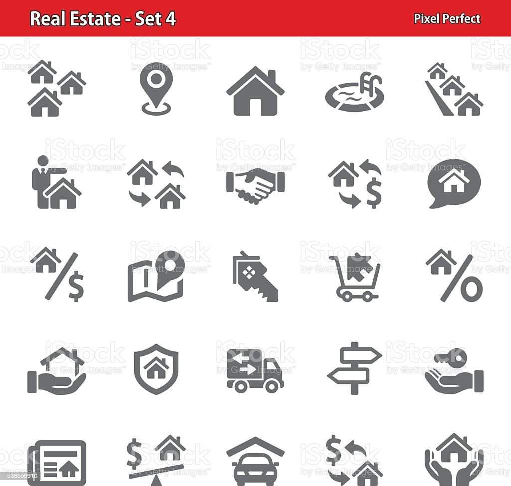 Real Estate Icons - Set 4 vector art illustration