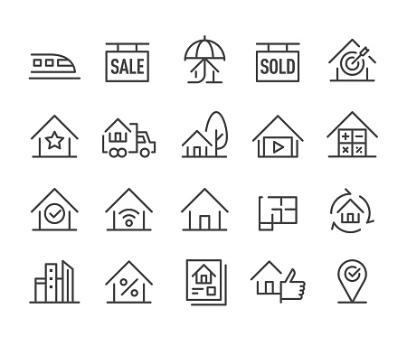 Real Estate - Icons Set - Classic Line Series