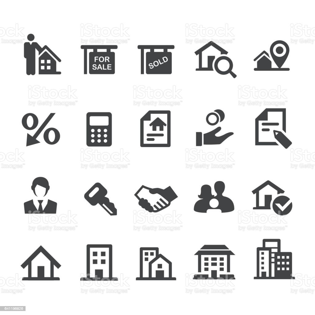 Real Estate Icons Set - Smart Series vector art illustration