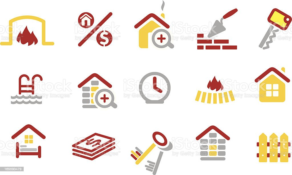 Real estate icons set royalty-free stock vector art