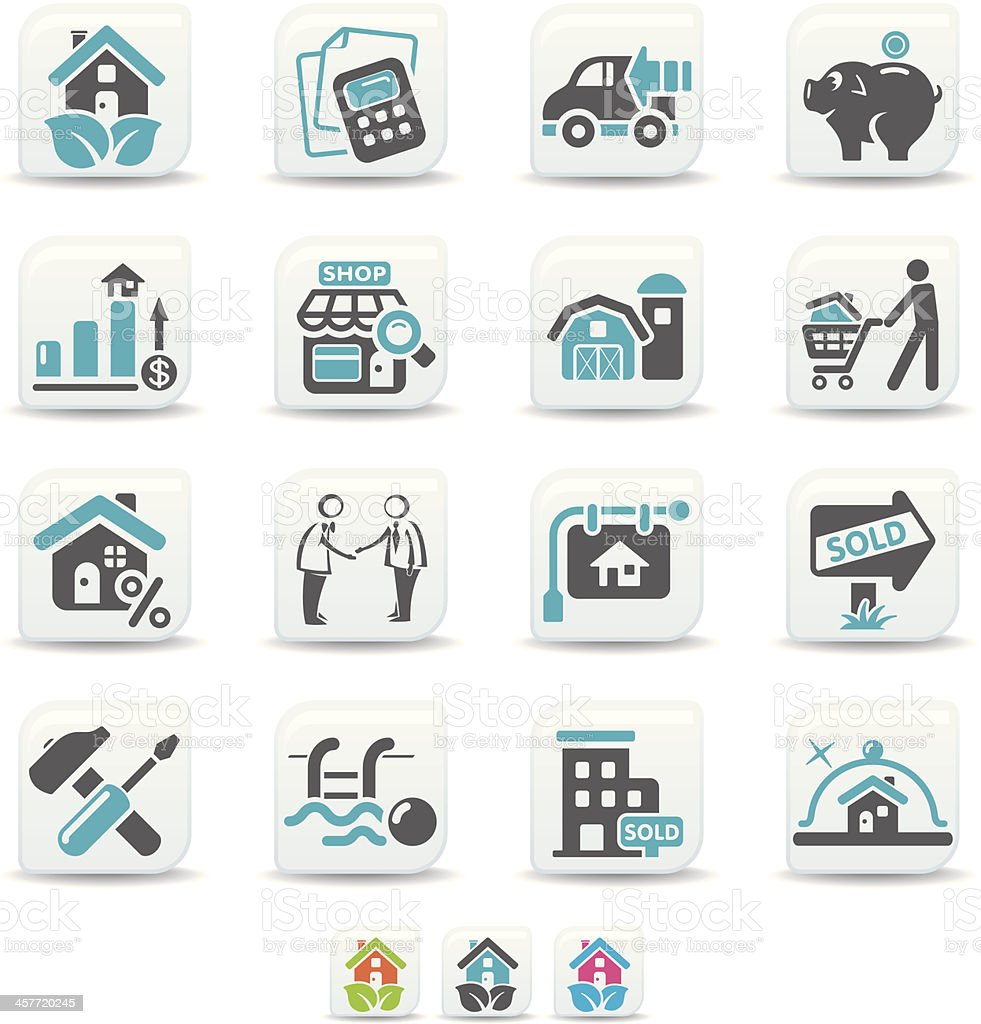 real estate icons | simicoso collection royalty-free stock vector art