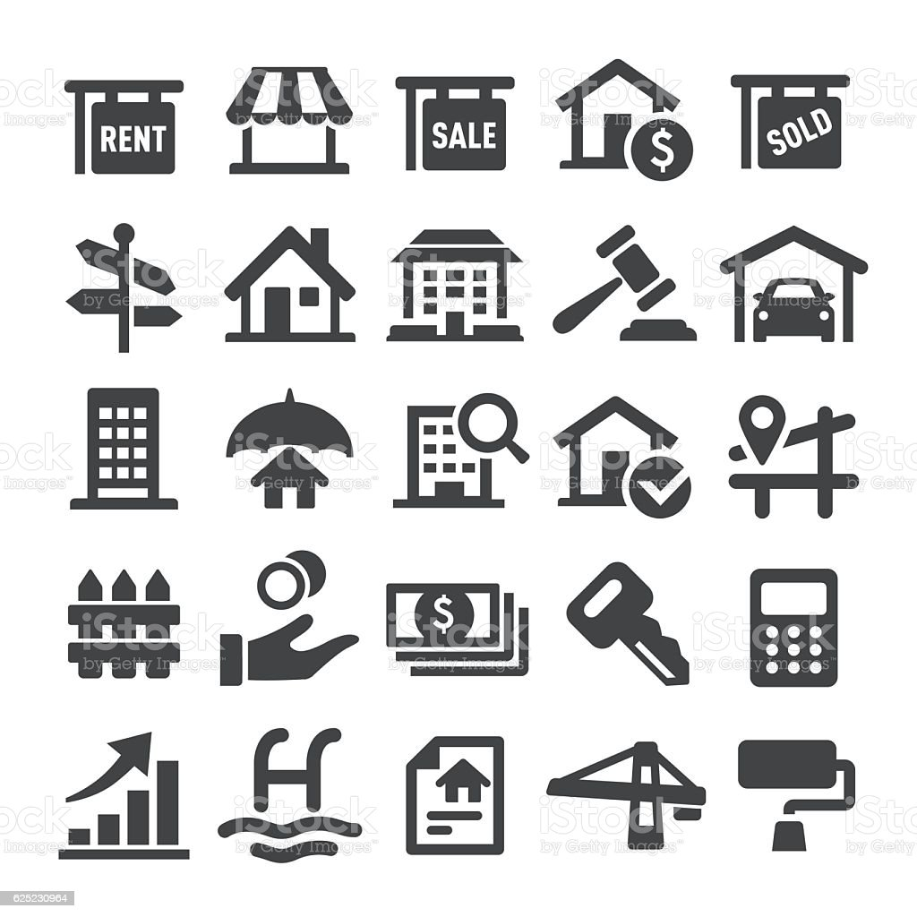 Real Estate Icons - Smart Series vector art illustration