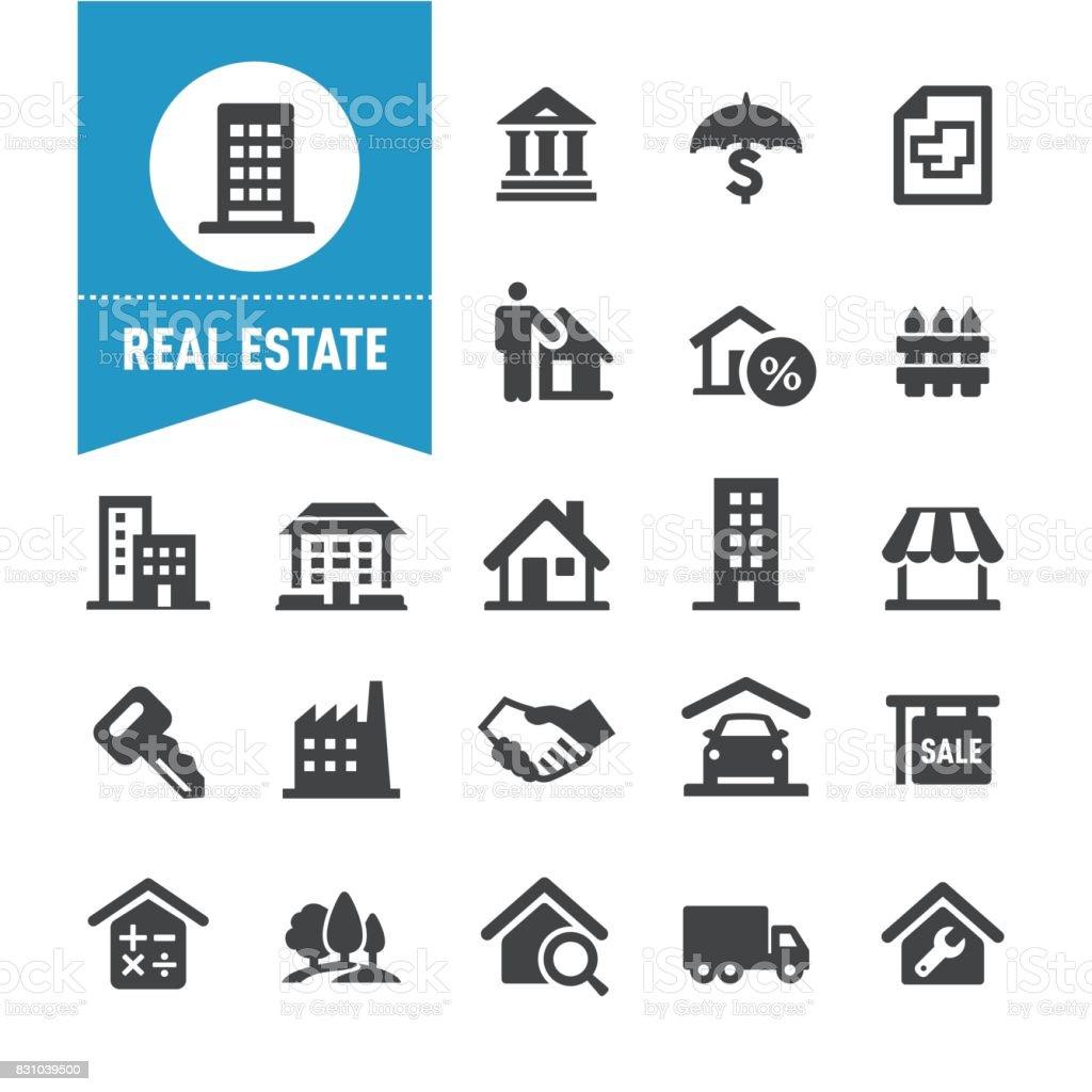Real Estate Icons - Special Series - Векторная графика For Sale - английское словосочетание роялти-фри