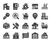 Real Estate Icons Vector EPS File.