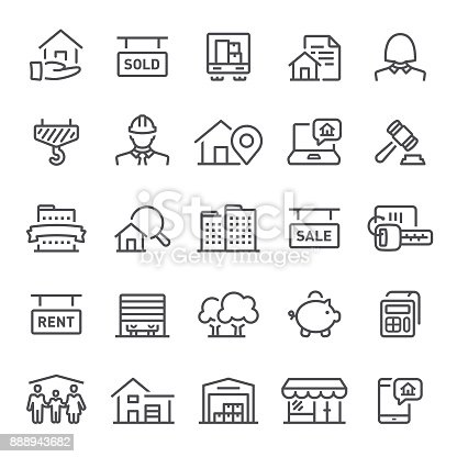 Real estate, mortgage, home ownership, icons, building, icon, apartment, house