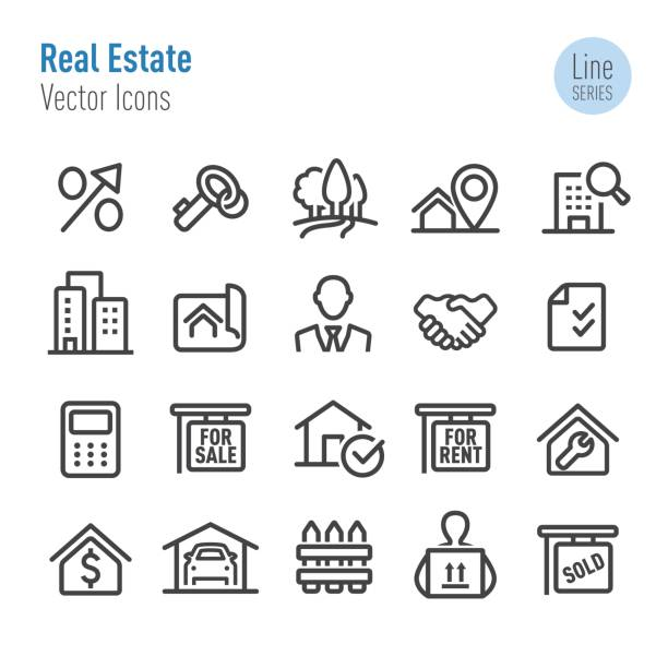 Real Estate Icons - Vector Line Series vector art illustration