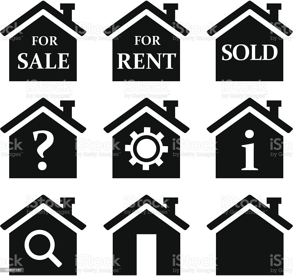 Real Estate icons - VECTOR vector art illustration