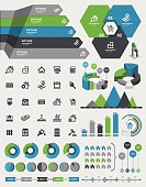 Vector illustration of the real estate infographic elements.