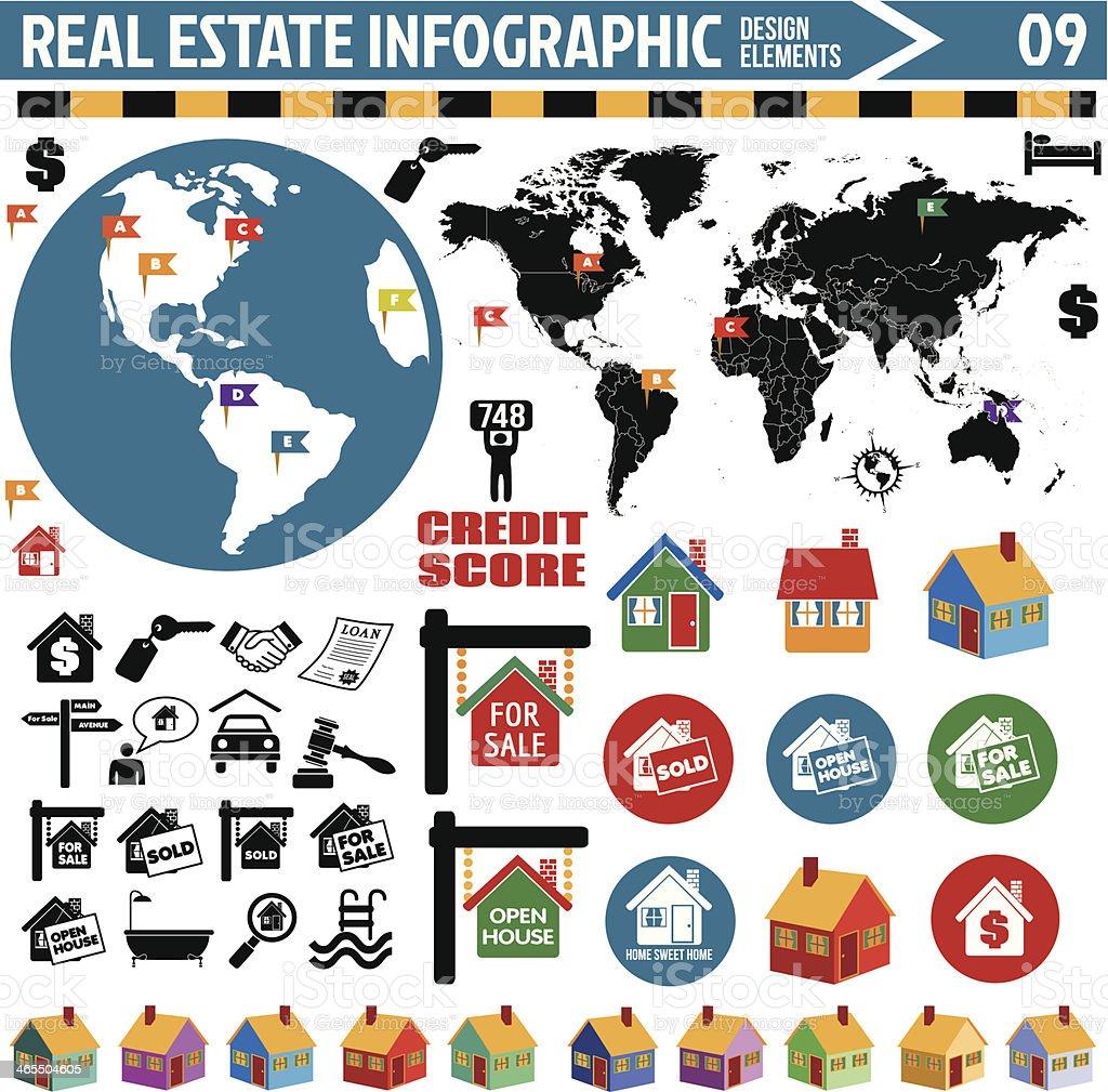 real estate infographics vector art illustration
