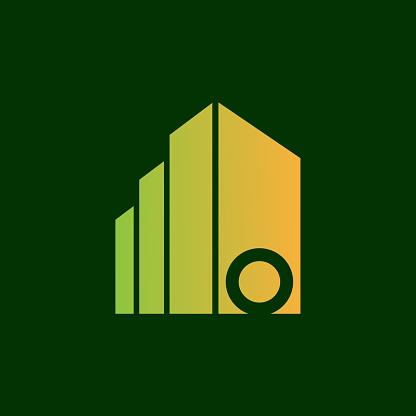 Real Estate initial Letter O icon design