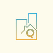Real Estate initial Letter Q icon design
