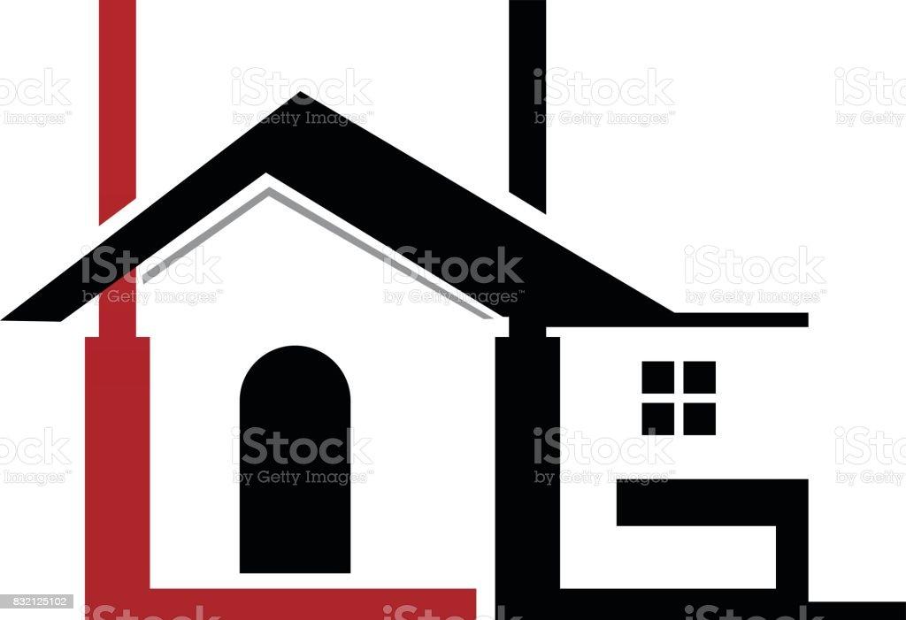 Real Estate L G vector art illustration