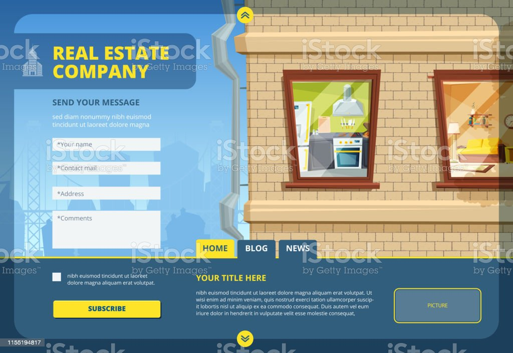 Real Estate Landing Find Your Apartment Or Commercial