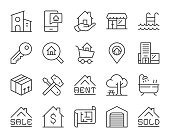 Real Estate - Light Line Icons