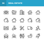 20 Real Estate Outline Icons.