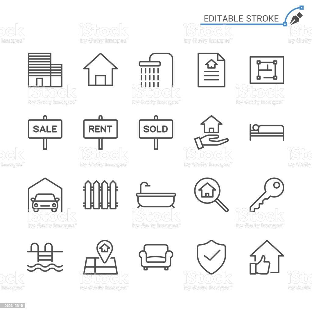 Real estate line icons. Editable stroke. Pixel perfect. real estate line icons editable stroke pixel perfect - stockowe grafiki wektorowe i więcej obrazów architektura royalty-free