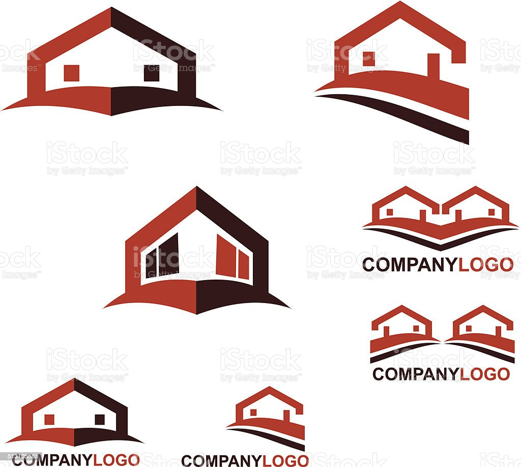 Real estate logo and web icon vector art illustration