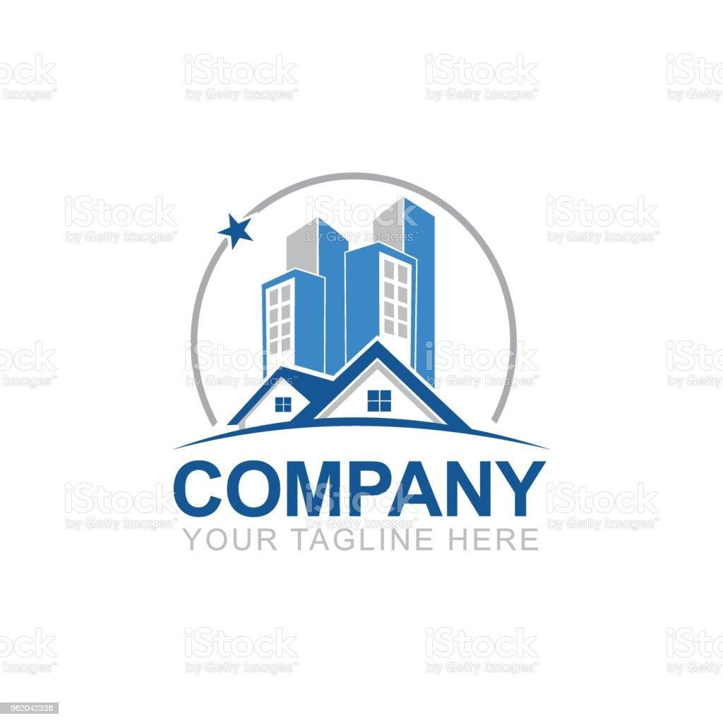 Real estate logo design creative abstract real estate icon and real estate logo design creative abstract real estate icon and business card template property colourmoves