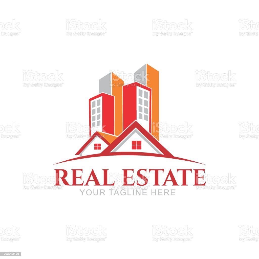 Immobilienlogodesign Kreative Abstrakte Immobiliensymbol Und