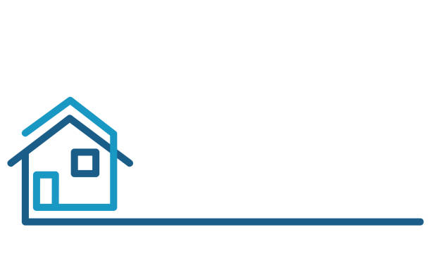 real estate logo, house on white, stock vector illustration - real estate logos stock illustrations, clip art, cartoons, & icons