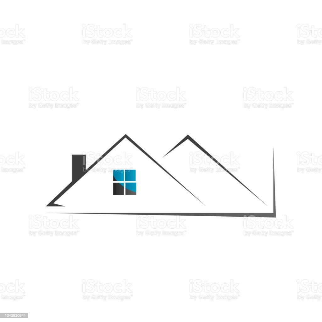 Real Estate Logo House Roof Design Vector Stock Illustration Download Image Now