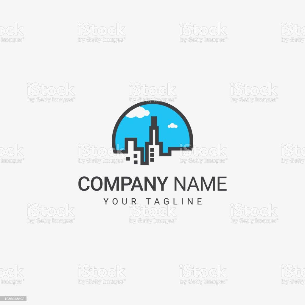 Real Estate Logo vector art illustration