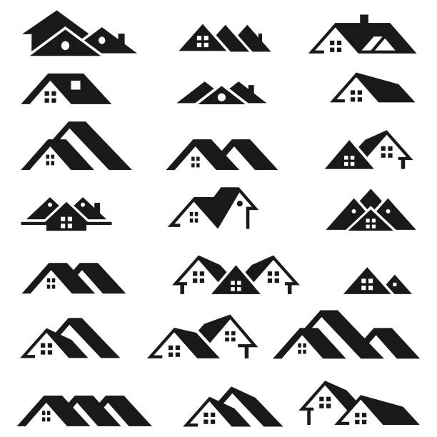 logo nieruchomości - house stock illustrations
